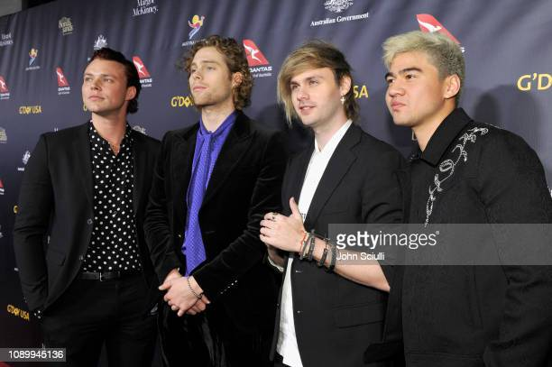 Ashton Irwin Luke Hemmings Michael Clifford and Calum Hood of 5 Seconds of Summer attend the 2019 G'Day USA Gala at 3LABS on January 26 2019 in...