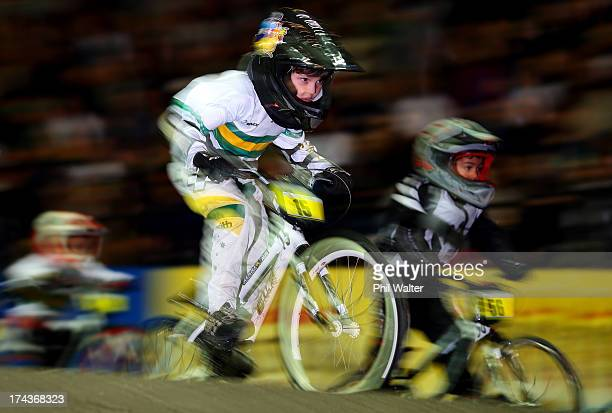 Ashton Kenny of Australia competes in the 5 6 year boys during day two of the UCI BMX World Championships at Vector Arena on July 25 2013 in Auckland...
