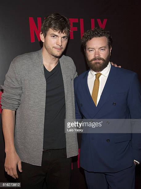 Ashton Kutcher and Danny Masterson attend the 'Netflix Red Carpet' event at the Four Seasons Hotel on March 17 2016 in Buenos Aires Argentina