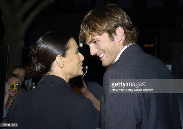 Ashton Kutcher and Demi Moore arrive at the Clearview Chelsea West Cinema for a special screening of the movie A Lot Like Love He stars in the film