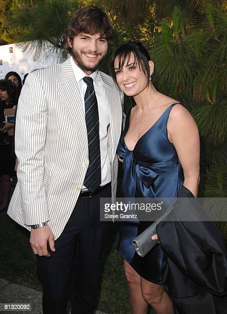 Ashton Kutcher and Demi Moore arrives at 7th Annual Chrysalis Butterfly Ball on May 31 2008 at a Private Residence in Los Angeles California