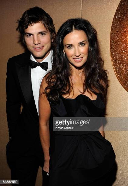 """Ashton Kutcher and Demi Moore at MTV and ServiceNation's """"Be the Change: Live From The Inaugural Ball"""" at the Washington Hilton on January 20, 2009..."""
