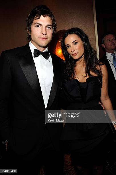 Ashton Kutcher and Demi Moore at MTV and ServiceNation's Be the Change Live From The Inaugural Ball at the Washington Hilton on January 20 2009 in...