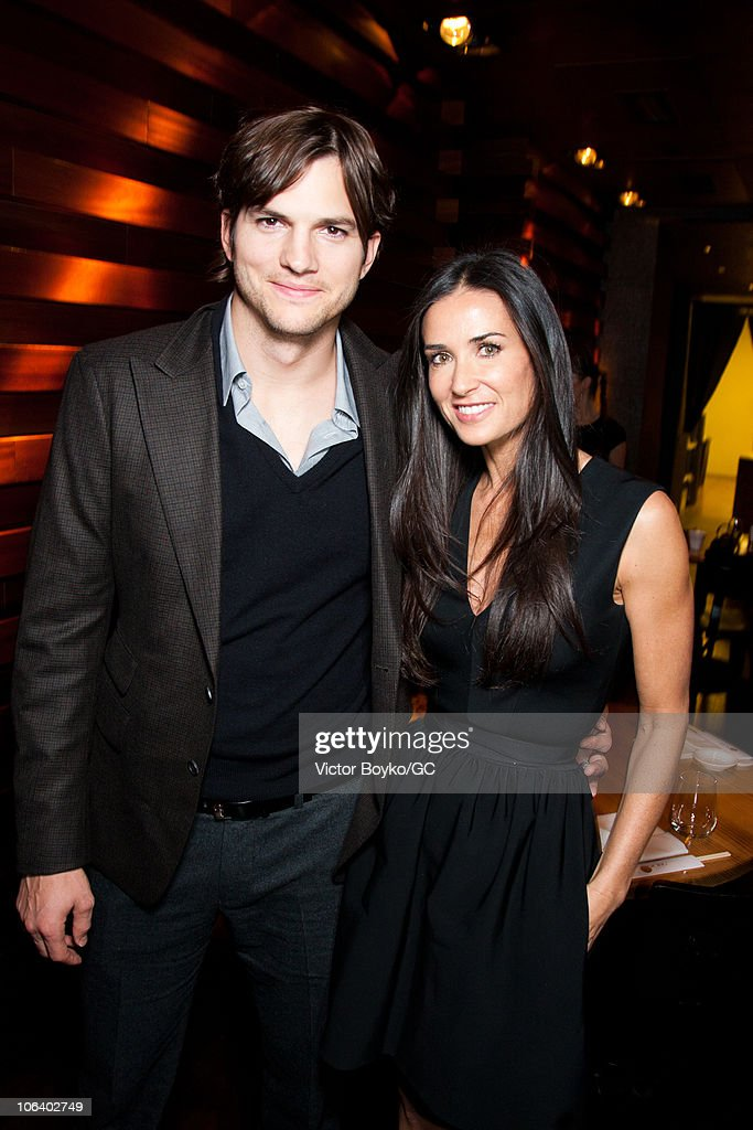 charity gala with demi moore and ashton kutcher private dinner