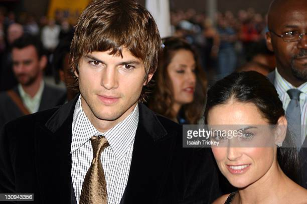 Ashton Kutcher and Demi Moore during 31st Annual Toronto International Film Festival 'Bobby' Premiere Red Carpet and Inside at Roy Thompson Hall in...