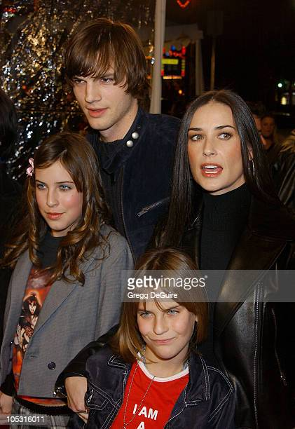 Ashton Kutcher and Demi Moore during 'Cheaper By The Dozen' Los Angeles Premiere at Grauman's Chinese Theatre in Hollywood California United States