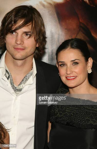 Ashton Kutcher and Demi Moore during Live Free or Die Hard New York City Primiere Arrivals at Radio City Music Hall at 1260 Avenue of the Americas in...