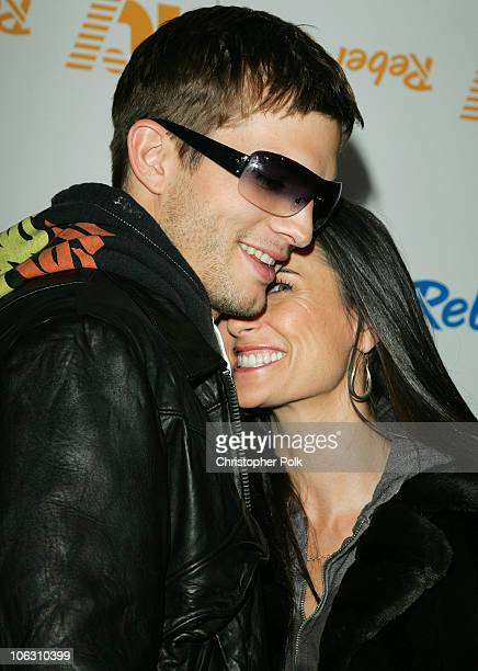 Ashton Kutcher and Demi Moore during Rebel Yell Spring Launch Party at Kitson at Kitson in Beverly Hills California United States