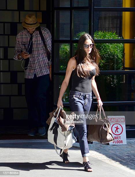 Ashton Kutcher and Demi Moore sighting on August 26 2011 in New York City