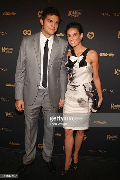Ashton Kutcher and Demi Moore walk the red carpet at The Gentlemen's Ball 2009 at The Edison Ballroom on October 28 2009 in New York City
