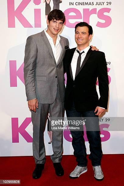 Ashton Kutcher and Director Robert Luketic arrive at the 'Killers' premiere at Event Cinemas George Street on July 18 2010 in Sydney Australia