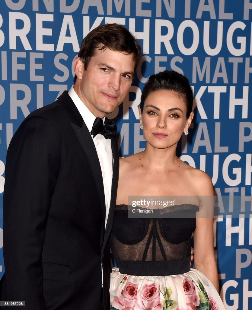 Ashton Kutcher and Mila Kunis attend the 6th Annual Breakthrough Prize at NASA Ames Research Center on December 3, 2017 in Mountain View, California.