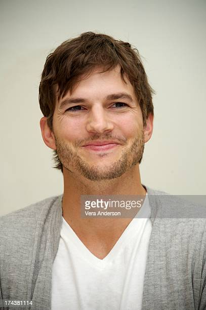 """Ashton Kutcher at the """"Jobs"""" Press Conference at the Four Seasons Hotel on July 24, 2013 in Beverly Hills, California."""