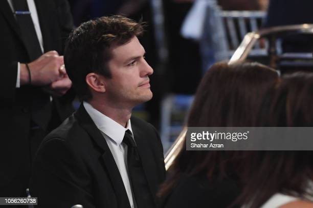 Ashton Kutcher attends Friends of The Israel Defense Forces Western Region Gala at The Beverly Hilton Hotel on November 1 2018 in Beverly Hills...