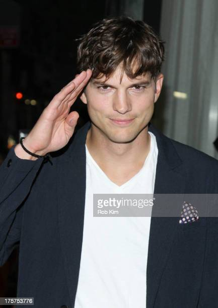 """Ashton Kutcher attends """"Jobs"""" New York Premiere at MOMA on August 7, 2013 in New York City."""