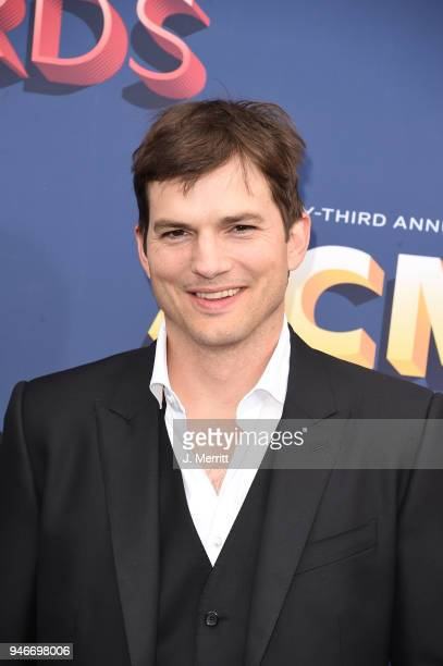 Ashton Kutcher attends the 53rd Academy of Country Music Awards at the MGM Grand Garden Arena on April 15 2018 in Las Vegas Nevada