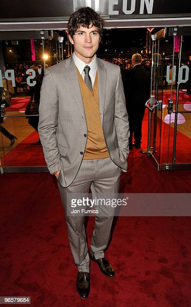 Ashton Kutcher attends the European Premiere of 'Valentine's Day' at Odeon Leicester Square on February 11, 2010 in London, England.