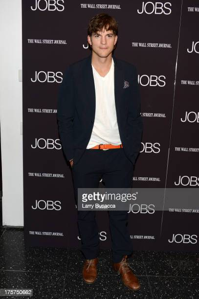 """Ashton Kutcher attends the """"Jobs"""" New York Premiere at MOMA on August 7, 2013 in New York City."""