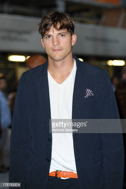 Ashton Kutcher attends the 'Jobs' premiere at The Museum of Modern Art on August 7 2013 in New York City