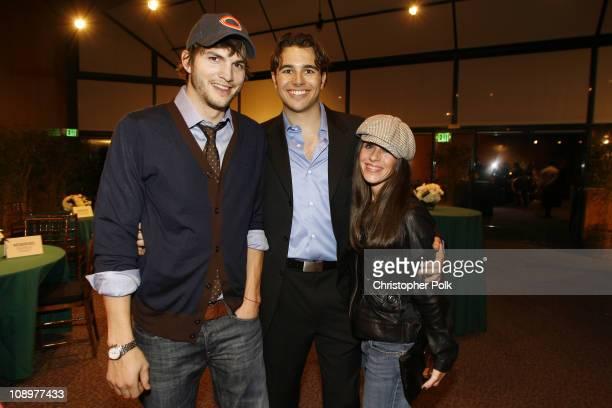 Ashton Kutcher, Charlie Ebersol, producer and Soleil Moon Frye