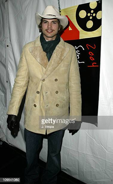 Ashton Kutcher during 2004 Sundance Film Festival The Butterfly Effect Premiere at Eccles in Park City Utah United States