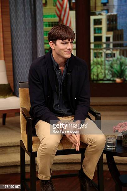 MICHAEL 8/9/13 Ashton Kutcher is a guest on LIVE with Kelly and Michael distributed by DisneyWalt Disney Television via Getty Images Domestic...