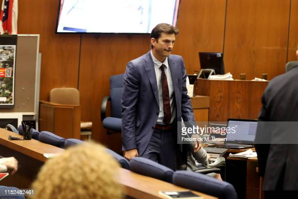 """Ashton Kutcher leaves the witness stand after testifying during the trial of alleged serial killer Michael Gargiulo known as the """"Hollywood Ripper""""..."""