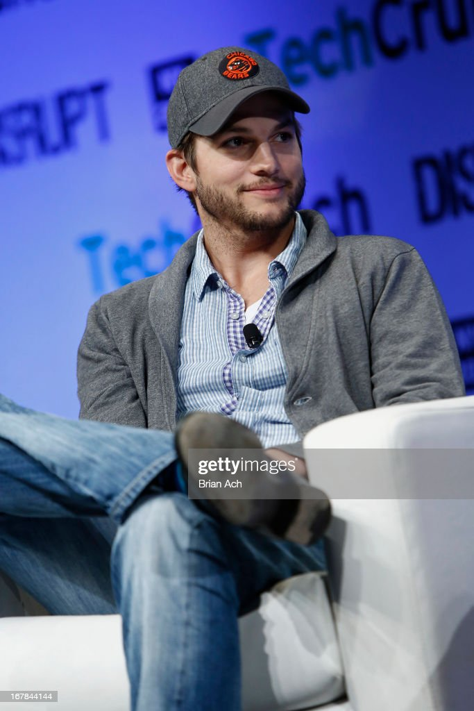 Ashton Kutcher of A-Grade speaks onstage at TechCrunch Disrupt NY 2013 at The Manhattan Center on May 1, 2013 in New York City.