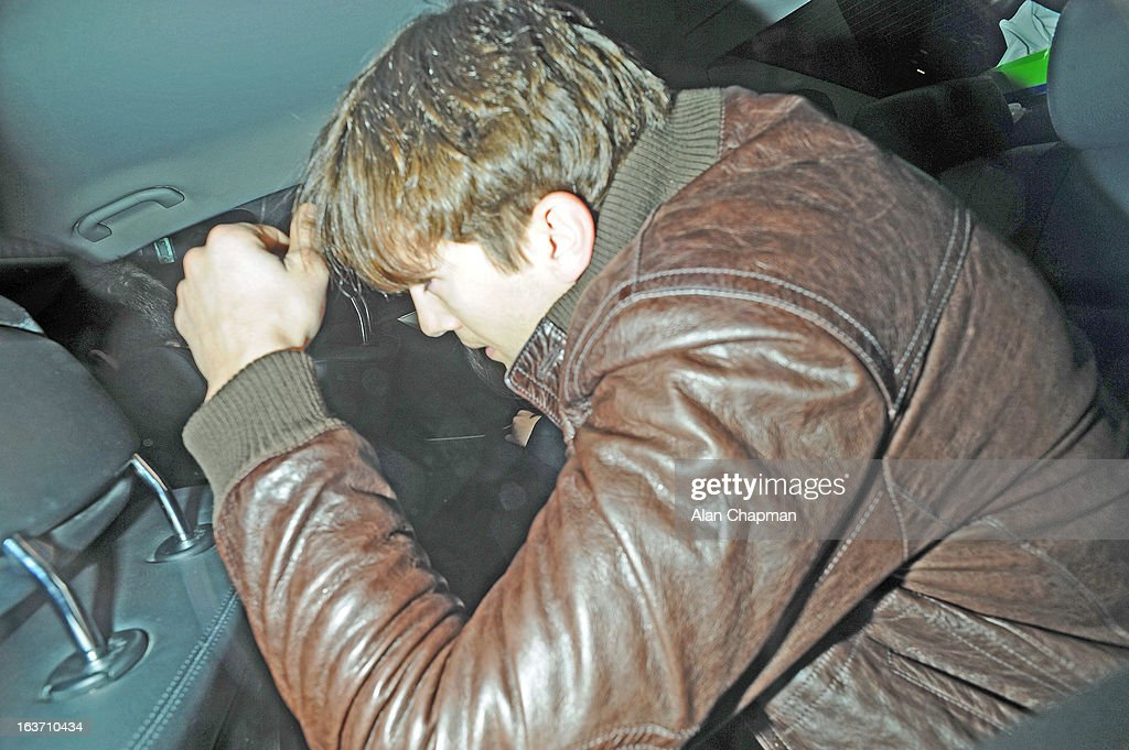 Ashton Kutcher sighting at Scotts restaurant on March 14, 2013 in London, England.