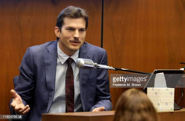 "Ashton Kutcher testifies during the trial of alleged serial killer Michael Gargiulo known as the ""Hollywood Ripper"" at the Clara Shortridge Foltz..."