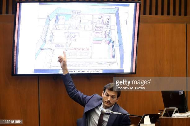 "Ashton Kutcher testifies during the trial of alleged serial killer Michael Gargiulo known as the ""Hollywood Ripper"" at the Clara Shortridge Foltz..."