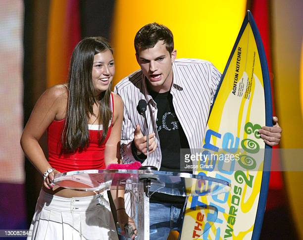 Ashton Kutcher winner of Choice TV Personality and Choice Reality/TV Star for 'Punk'd' and fan