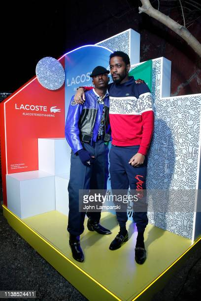 Ashton Sanders and Lakeith Stanfield attend Lacoste x Keith Haring collaboration launch at Pioneer Works on March 26 2019 in New York City