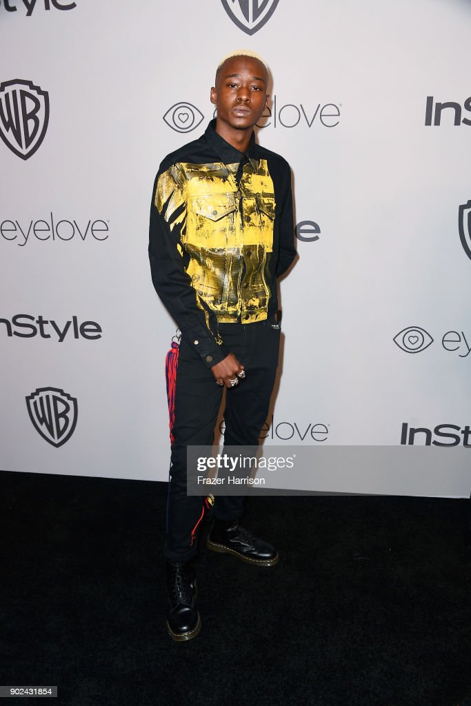 Ashton Sanders attends 19th Annual Post-Golden Globes Party hosted by Warner Bros. Pictures and InStyle at The Beverly Hilton Hotel on January 7, 2018 in Beverly Hills, California.