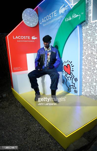 Ashton Sanders attends Lacoste x Keith Haring collaboration launch at Pioneer Works on March 26 2019 in New York City