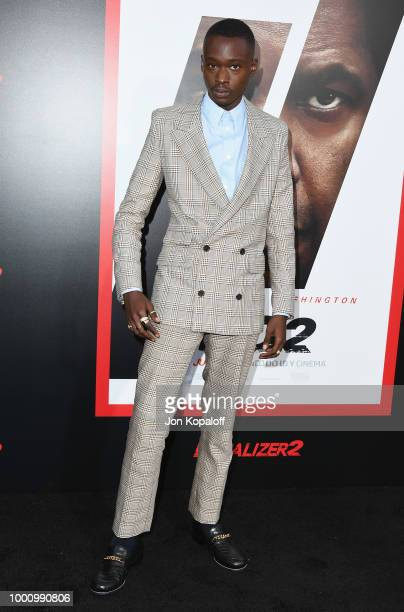 Ashton Sanders attends premiere of Columbia Picture's 'Equalizer 2' at TCL Chinese Theatre on July 17 2018 in Hollywood California