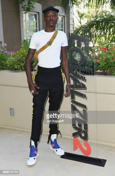 Ashton Sanders attends the photo call for Columbia Pictures' The Equalizer 2 at the Four Seasons Hotel on July 13 2018 in Los Angeles California