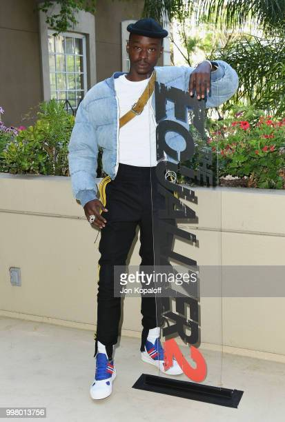 Ashton Sanders attends the photo call for Columbia Pictures' 'The Equalizer 2' at the Four Seasons Hotel on July 13 2018 in Los Angeles California