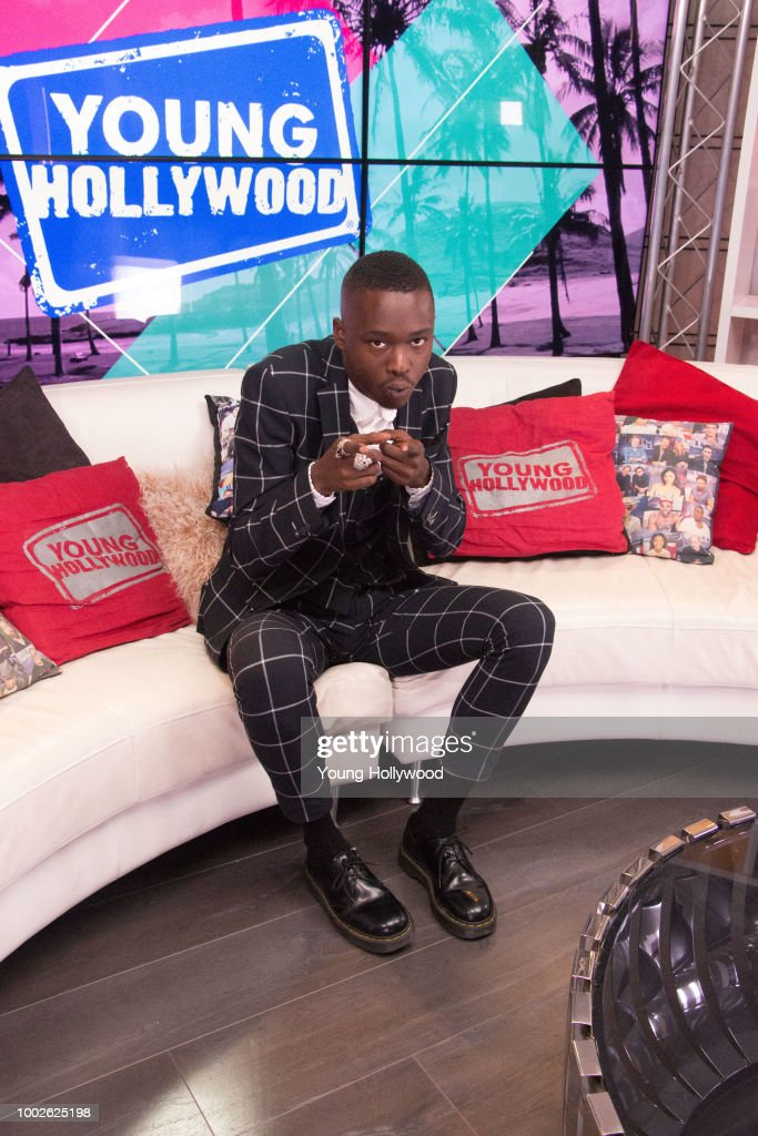 Ashton Sanders Visits Young Hollywood Studio