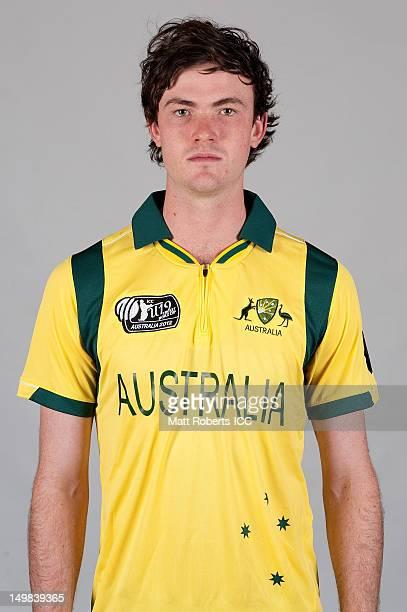 Ashton Turner of Australia poses during a ICC U19 Cricket World Cup 2012 portrait session at Allan Border Field on August 5 2012 in Brisbane Australia