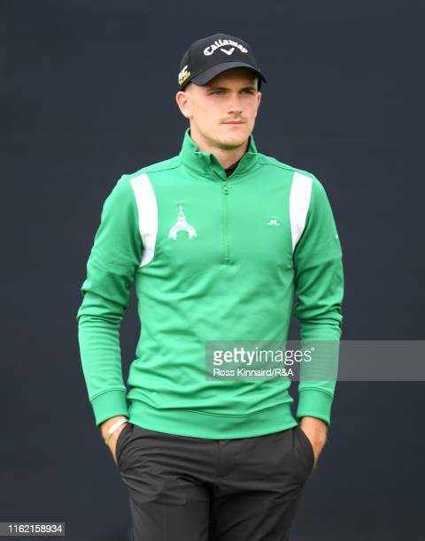 Ashton Turner of England looks on during a practice round prior to the 148th Open Championship held on the Dunluce Links at Royal Portrush Golf Club...