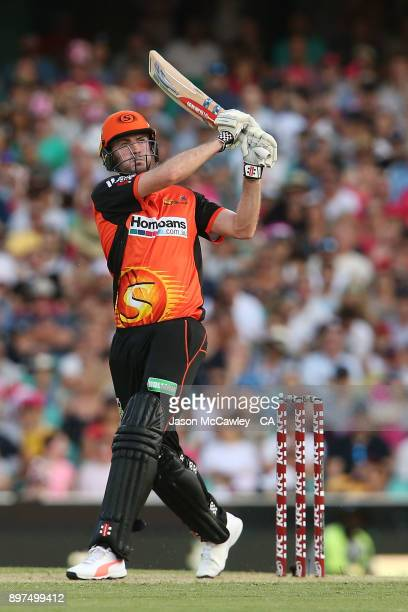 Ashton Turner of the Scorchers bats during the Big Bash League match between the Sydney Sixers and the Perth Scorcher at Sydney Cricket Ground on...