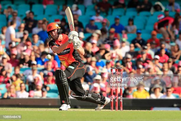Ashton Turner of the Scorchers bats during the Sydney Sixers v Perth Scorchers Big Bash League Match at Sydney Cricket Ground on December 22 2018 in...