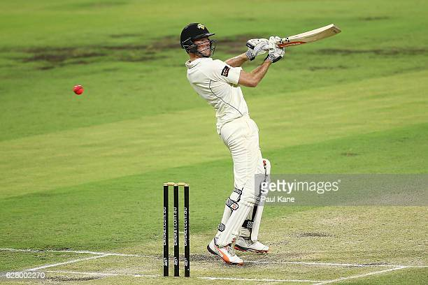 Ashton Turner of Western Australia bats during day two of the Sheffield Shield match between Western Australia and Queensland at WACA on December 6...