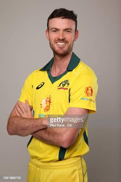 Ashton Turner poses during the Australian Men's One Day International Squad Headshots Session on September 21 2018 in Perth Australia