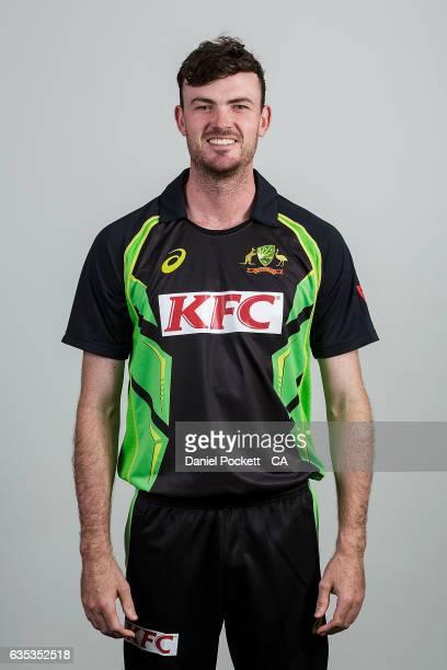 Ashton Turner poses during the Australian Mens Twenty20 Headshots Session on February 14 2017 in Melbourne Australia