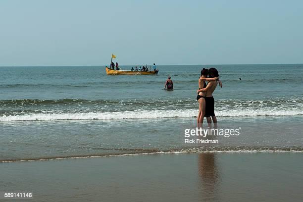 Ashvem Beach Mandrem Goa India on November 28 2014