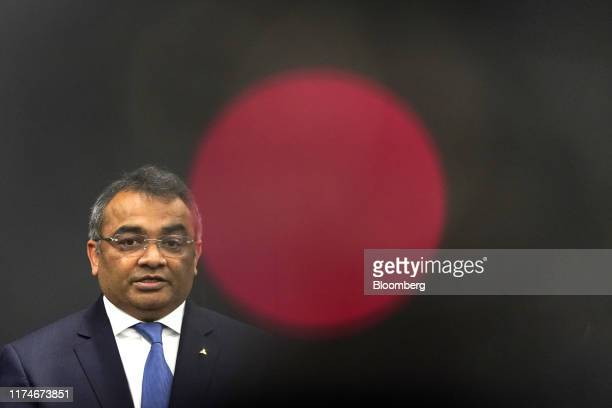 Ashwani Gupta, chief operating officer of Mitsubishi Motors Corp. And incoming chief operating officer of Nissan Motor Co., speaks during a news...
