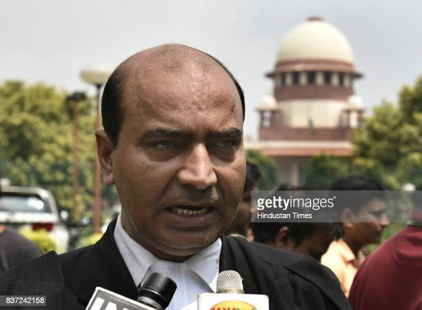 Ashwani Upadhyay an advocate talking to media about proceedings in the court on Triple Talaq as the Supreme Court of India has banned the triple...