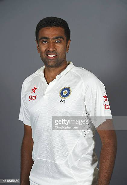 R Ashwin of India poses on July 7 2014 in NottinghamEngland